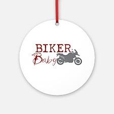 Biker Baby Ornament (Round)