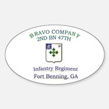 BCO 2ND 47TH Oval Decal