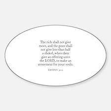 EXODUS 30:15 Oval Decal