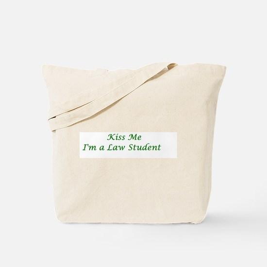 Kiss me I'm a Law Student Tote Bag