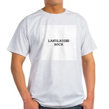 LANDLADIES  ROCK Ash Grey T-Shirt