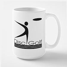 Disc Golf logos Large Mug