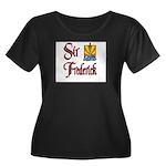 Sir Frederick Women's Plus Size Scoop Neck Dark T-