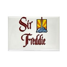 Sir Freddie Rectangle Magnet