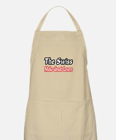 """Swiss..Great Lovers"" BBQ Apron"