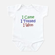 I Came I Tossed I Won Infant Bodysuit