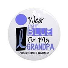 I Wear Light Blue For My Grandpa 9 Ornament (Round