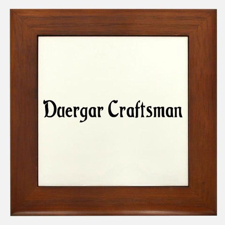 Duergar Craftsman Framed Tile