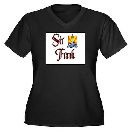 Sir Frank Women's Plus Size V-Neck Dark T-Shirt