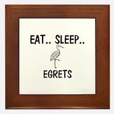 Eat ... Sleep ... EGRETS Framed Tile