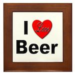 I Love Beer Framed Tile