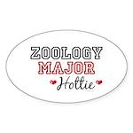 Zoology Major Hottie Oval Sticker