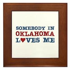 Somebody in Oklahoma Loves Me Framed Tile