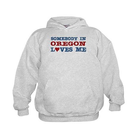 Somebody in Oregon Loves Me Kids Hoodie