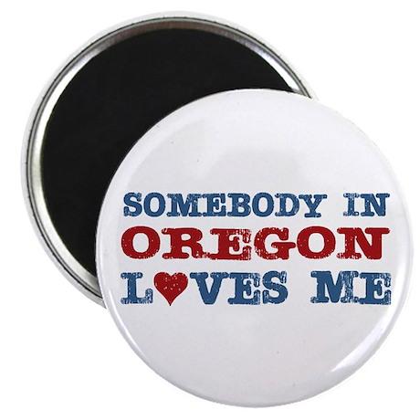 "Somebody in Oregon Loves Me 2.25"" Magnet (10 pack)"