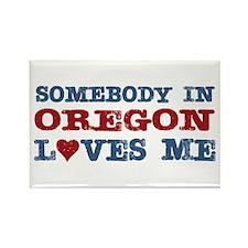 Somebody in Oregon Loves Me Rectangle Magnet (10 p