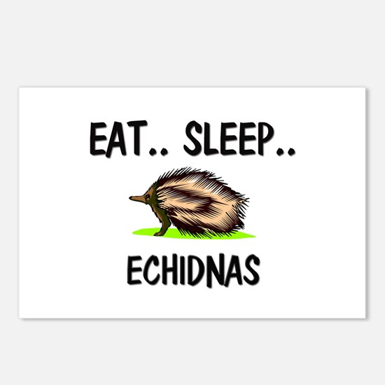 Eat ... Sleep ... ECHIDNAS Postcards (Package of 8