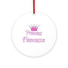 Princess Francesca Ornament (Round)