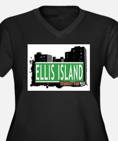 ELLIS ISLAND, MANHATTAN, NYC Women's Plus Size V-N
