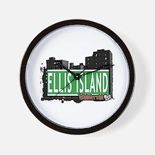 ELLIS ISLAND, MANHATTAN, NYC Wall Clock