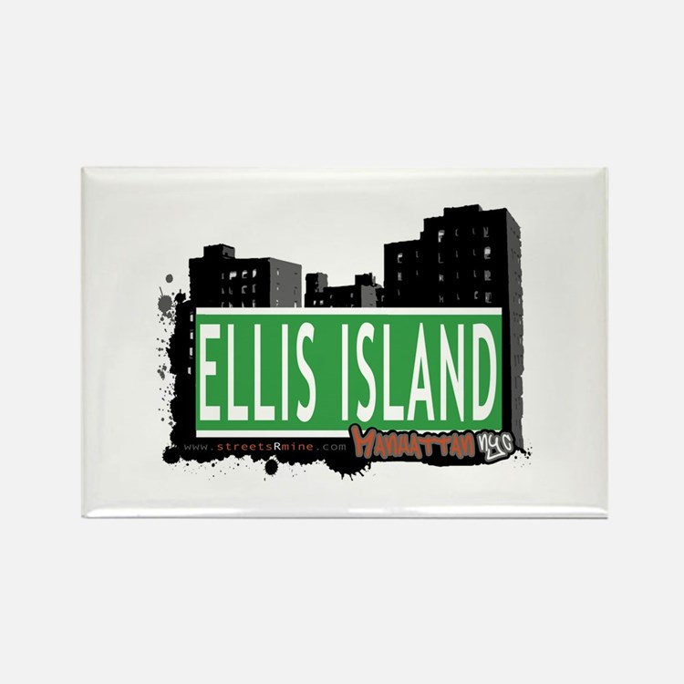 ELLIS ISLAND, MANHATTAN, NYC Rectangle Magnet