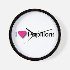 I LUV PAPILLONS Wall Clock