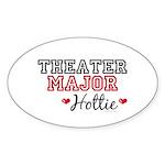 Theater Major Hottie Oval Sticker (10 pk)