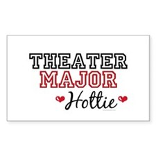 Theater Major Hottie Rectangle Decal