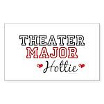 Theater Major Hottie Rectangle Sticker