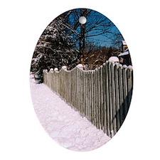 Snow in MA Keepsake (Oval)