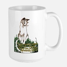 Man Crossed With a Cat Large Mug