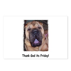 Thank God It's Friday Postcards (Package of 8)