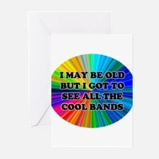 All The Cool Bands Greeting Cards