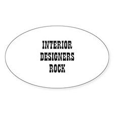 INTERIOR DESIGNERS ROCK Oval Decal