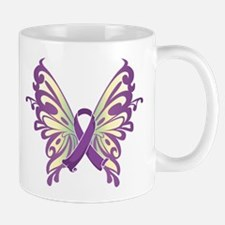 Pancreatic Cancer Butterfly Mug