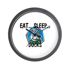 Eat ... Sleep ... DUCKS Wall Clock
