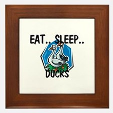 Eat ... Sleep ... DUCKS Framed Tile