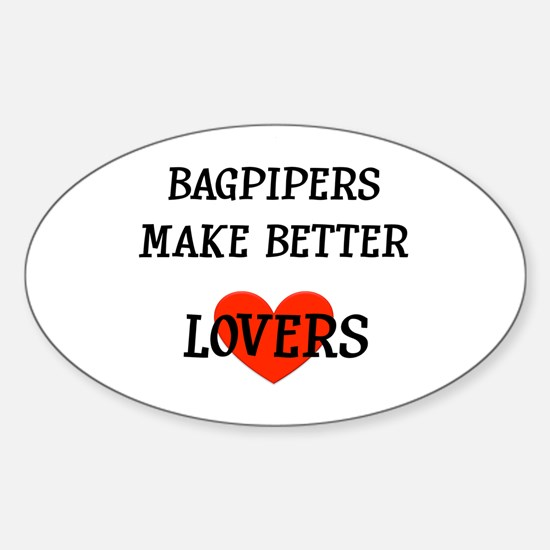 Bagpipe Gift Oval Decal
