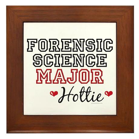 Forensic Science Major Hottie Framed Tile