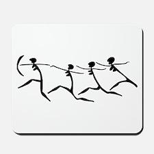 Running Women-black & white Mousepad