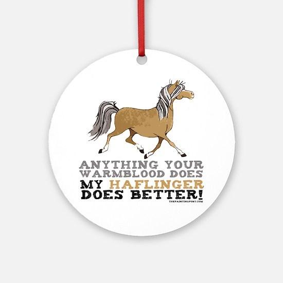 Haflinger Horse Ornament (Round)