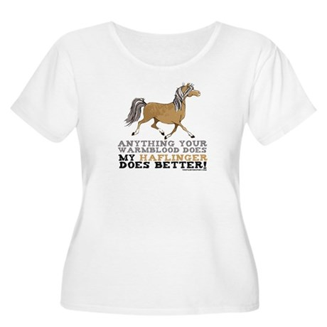 Haflinger Horse Women's Plus Size Scoop Neck T-Shi