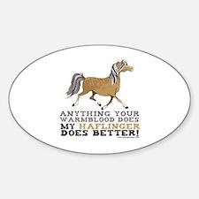 Haflinger Horse Oval Decal