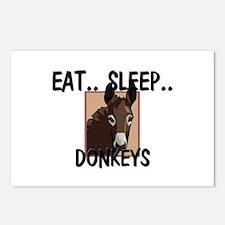Eat ... Sleep ... DONKEYS Postcards (Package of 8)