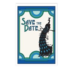 Save the Date Peacock 2 Postcards (Package of 8)