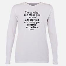 Facts Matter Plus Size Long Sleeve Tee T-Shirt