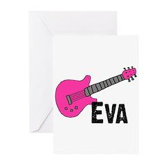 Guitar - Eva Greeting Cards (Pk of 20)