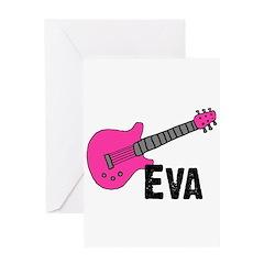 Guitar - Eva Greeting Card
