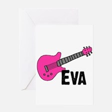 Guitar - Eva Greeting Card