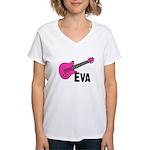 Guitar - Eva Women's V-Neck T-Shirt